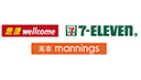 wellcome / 7-Eleven / mannings