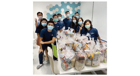疫情期間,大華銀行進行CSR活動,捐贈食物予慈善機構,協助有需要人士。