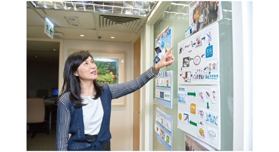 彭麗嫦說,員工定期舉辦活動,運用創意,展示公司價值理念。