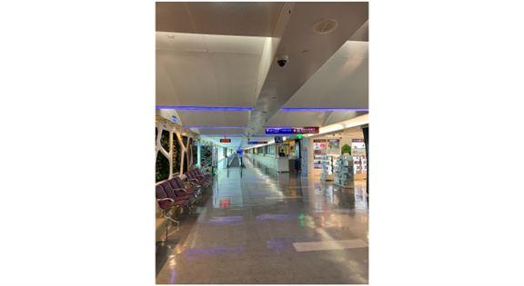 空蕩蕩的台灣桃園國際機場。好奇問了一下地勤,她說現在每班機都不會超過50位乘客。