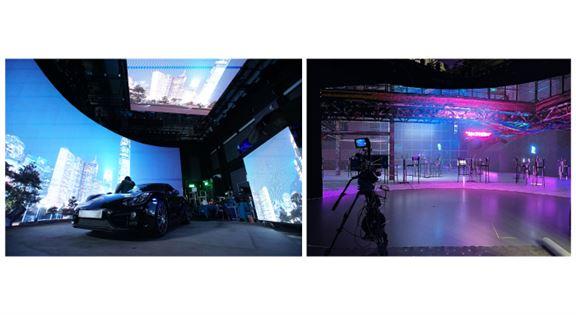 HKDI積極與業界合作,推動「虛擬創作」發展,同時為本地數碼媒體業培育掌握新科技的專才。圖為HKDI進行「虛擬製作」的場地。