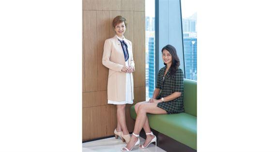 財富策劃資深總監葉碧雲Karies(左)、財富策劃經理吳天兒Tiffany(右)